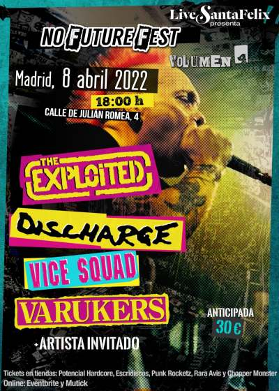 The Exploited,. Discharge, Vice Squad, Varukers